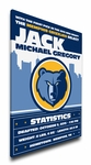 Memphis Grizzlies Personalized Canvas Birth Announcement - Baby Gift