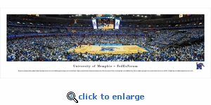 Memphis Tigers Basketball - FedEx Forum - Panoramic Photo (13.5 x 40)