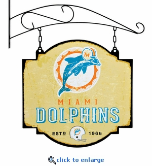 Miami Dolphins 16 X 16 Metal Tavern / Pub Sign