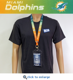 Miami Dolphins Lanyard Key Chain Bottle Opener and Ticket Holder
