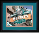 Miami Dolphins Personalized Sports Room / Pub Print