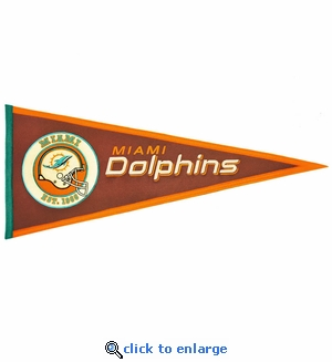 Miami Dolphins Pigskin Pennant (13 x 32)