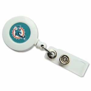 Miami Dolphins Retractable Ticket Badge Holder