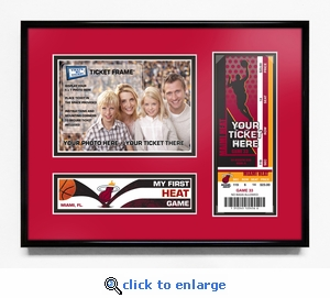 Miami Heat My First Game 5x7 Photo Ticket Frame