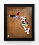 Miami Heat Personalized State of Mind Framed Print - Florida