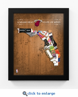 Miami Heat State of Mind Framed Print - Florida