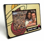 Miami Heat Black Wood Edge 4x6 inch Picture Frame