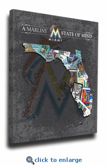 Miami Marlins State of Mind Canvas Print - Florida