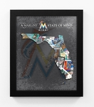 Miami Marlins State of Mind Framed Print - Florida