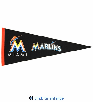 Miami Marlins Traditions Wool Pennant (13 x 32)