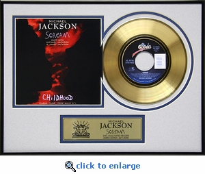 Michael Jackson - Scream Framed Gold Record, LE 3,000