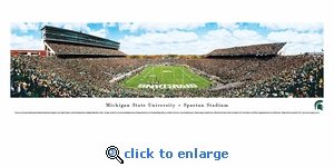 Michigan State Spartans Football - End Zone - Panoramic Photo (13.5 x 40)
