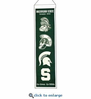 Michigan State Spartans Heritage Wool Banner (8 x 32)