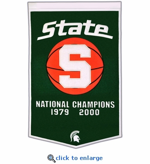 Michigan State Spartans National Champions Dynasty Wool Banner (24 X 36)