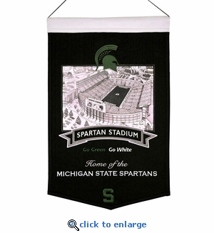 Michigan State Stadium Wool Banner (20 x 15) - Michigan State Spartans