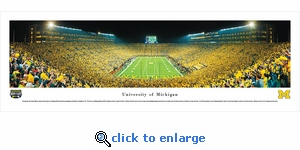 Michigan Wolverines Football - Under The Lights - 2011 End Zone - Panoramic Photo (13.5 x 40)