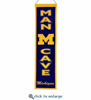 Michigan Wolverines  Man Cave Wool Banner (8 x 32)