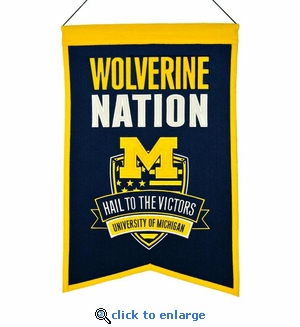 Michigan Wolverines  Nations Wool Banner (14 x 22)