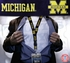 Michigan Wolverines NCAA Lanyard Key Chain and Ticket Holder - Navy