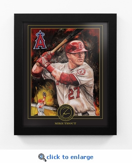 Mike Trout Framed Digital Print by Artist Justyn Farano - Angels