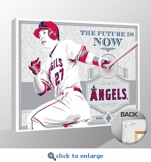 Mike Trout Sports Propaganda Canvas Print - Angels