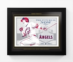 Mike Trout Sports Propaganda Framed 13x16 Digital Print - Angels