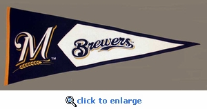 Milwaukee Brewers Classic Wool Pennant (17.5 X 40.5)