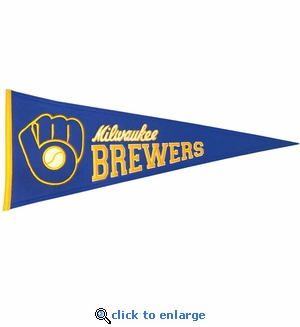 Milwaukee Brewers Cooperstown Wool Pennant (13 x 32)