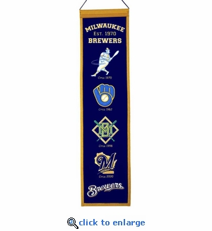 Milwaukee Brewers Heritage Wool Banner (8 x 32)