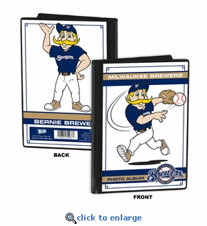 Milwaukee Brewers Mascot 4x6 Mini Photo Album - Bernie Brewer