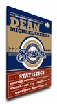 Milwaukee Brewers Personalized Canvas Birth Announcement - Baby Gift