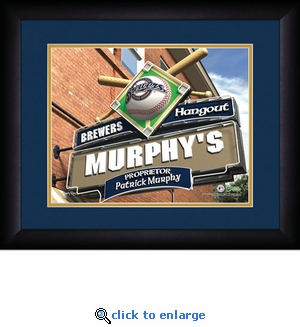 Milwaukee Brewers Personalized Sports Room / Pub Print