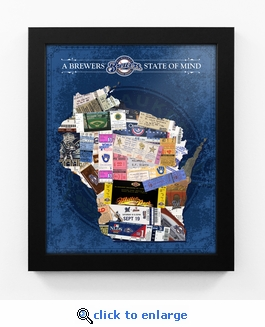 Milwaukee Brewers State of Mind Framed Print - Wisconsin