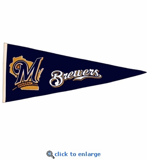 Milwaukee Brewers Traditions Wool Pennant (13 x 32)
