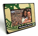 Milwaukee Bucks Black Wood Edge 4x6 inch Picture Frame