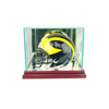 Mini Football Helmet Display Case - Cherry