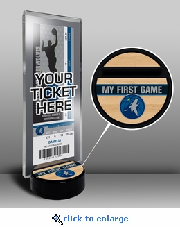 Minnesota Timberwolves My First Game Ticket Display Stand