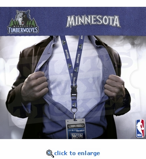Minnesota Timberwolves NBA Lanyard Key Chain and Ticket Holder - Blue