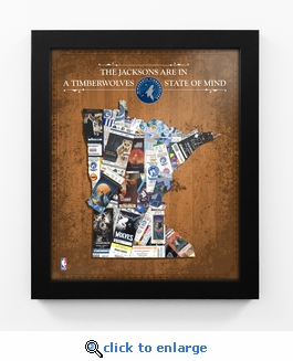 Minnesota Timberwolves Personalized State of Mind Framed Print