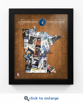 Minnesota Timberwolves State of Mind Framed Print