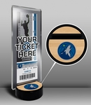 Minnesota Timberwolves Ticket Display Stand