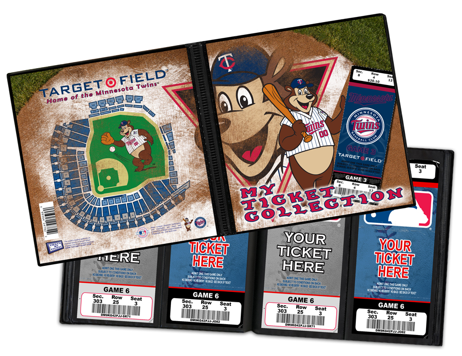save off d0e47 c3fd8 Minnesota Twins Mascot Ticket Album - TC Bear