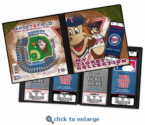 Minnesota Twins Mascot Ticket Album - TC Bear