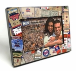 Minnesota Twins Ticket Collage Black Wood Edge 4x6 inch Picture Frame