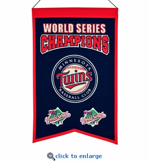 Minnesota Twins World Series Champions Wool Banner (14 x 22)