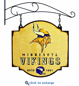 Minnesota Vikings 16 X 16 Metal Tavern / Pub Sign