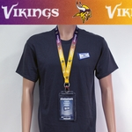 Minnesota Vikings Lanyard Key Chain Bottle Opener and Ticket Holder