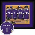 Minnesota Vikings Personalized Locker Room Print
