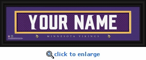 Minnesota Vikings Personalized Stitched Jersey Nameplate Framed Print