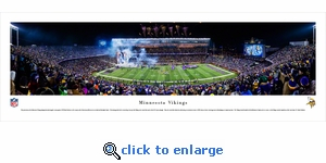 Minnesota Vikings - TCF Bank Stadium - Panoramic Photo (13.5 x 40)